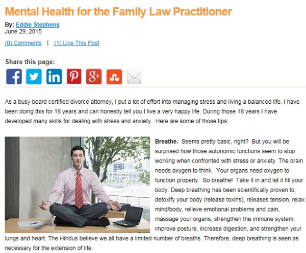 Mental Health Tips For Family Law Practitioners Stephens Squibs