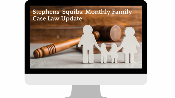 Family Law Case Update